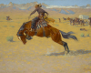 Detail: Frederic Remington, A Cold Morning on the Range c. 1904