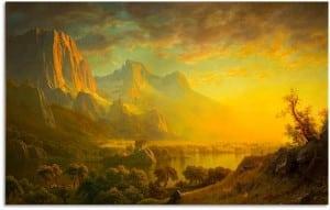 """Albert Bierstadt, """"Wind River, Wyoming"""" c. 1870"""