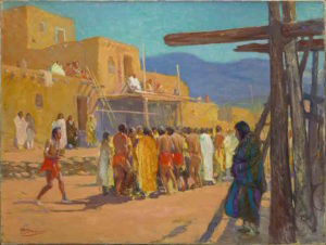 "Oscar Edward Berninghause, ""Dance at the Pueble,"" before 1916."